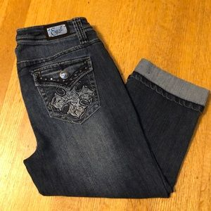 Earl Jeans Cropped Cuffed Jeans